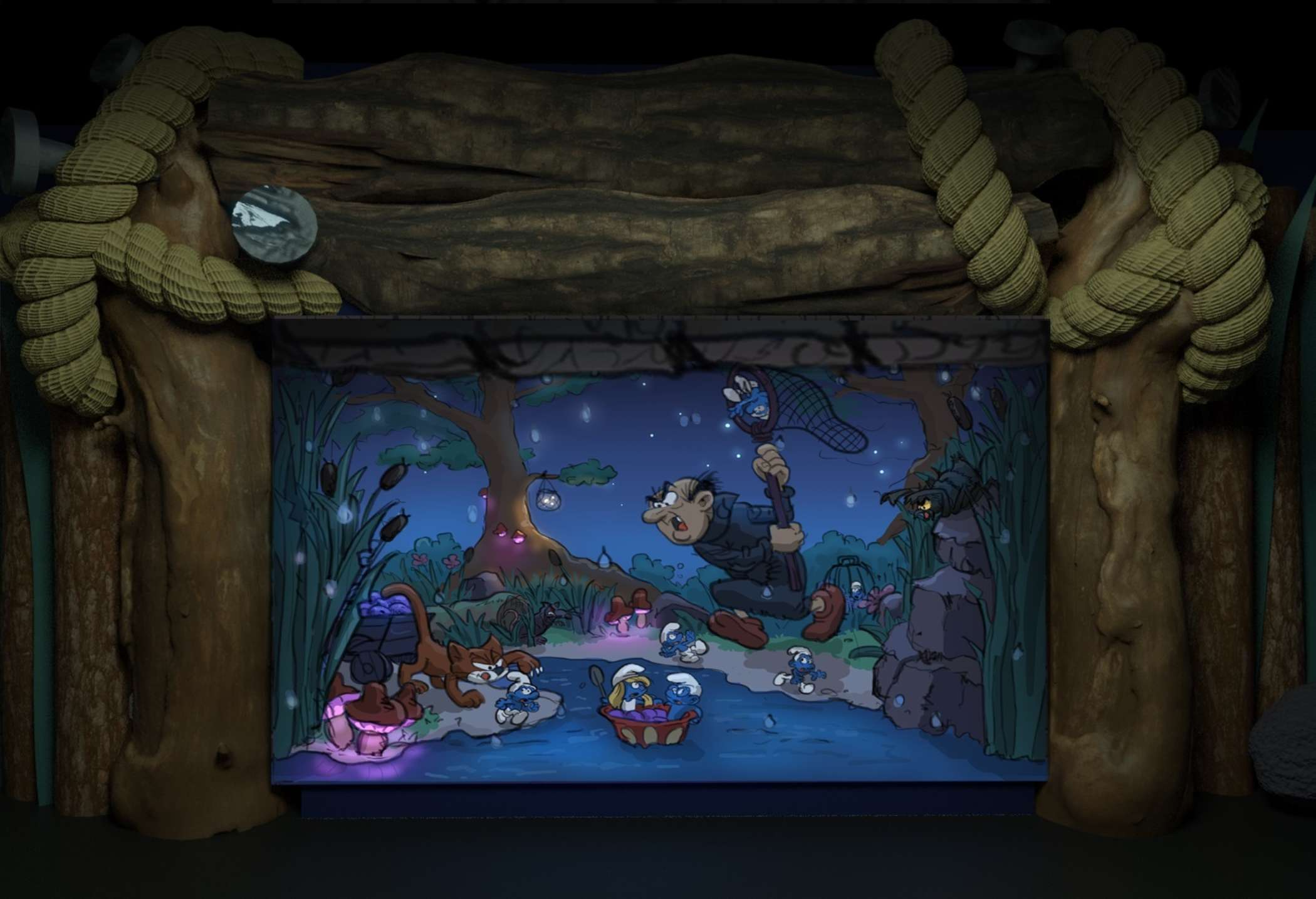 The Smurfs Concept Design Scene 2 Game